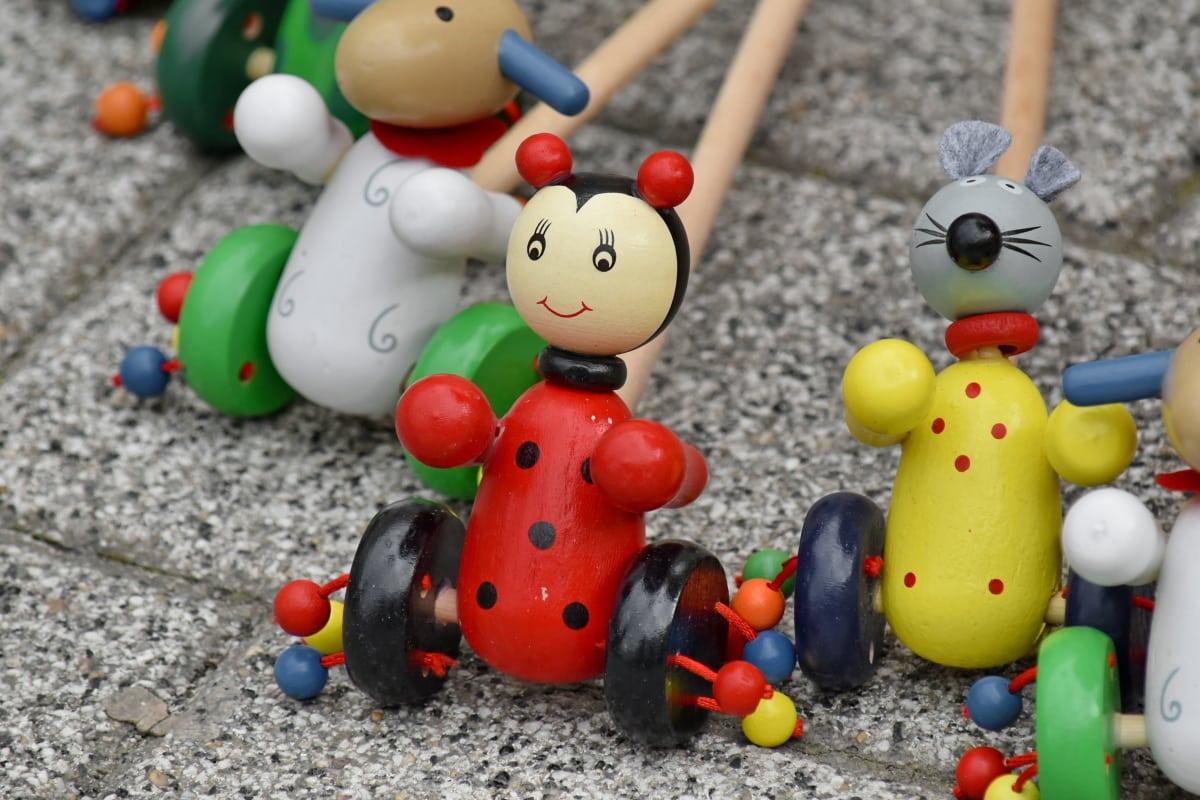ντεμοντέ, πεζοδρόμιο, παιχνίδια, παραδοσιακό, ξύλινα, παιχνίδι, διασκέδαση, ξύλο, Χαριτωμένο, Αστείο