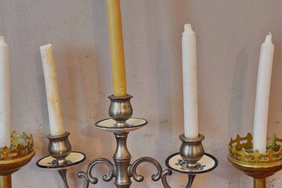 antikken, detaljer, sølv, stearinlys, antikk, retro, gamle, messing, tradisjonelle, innendørs