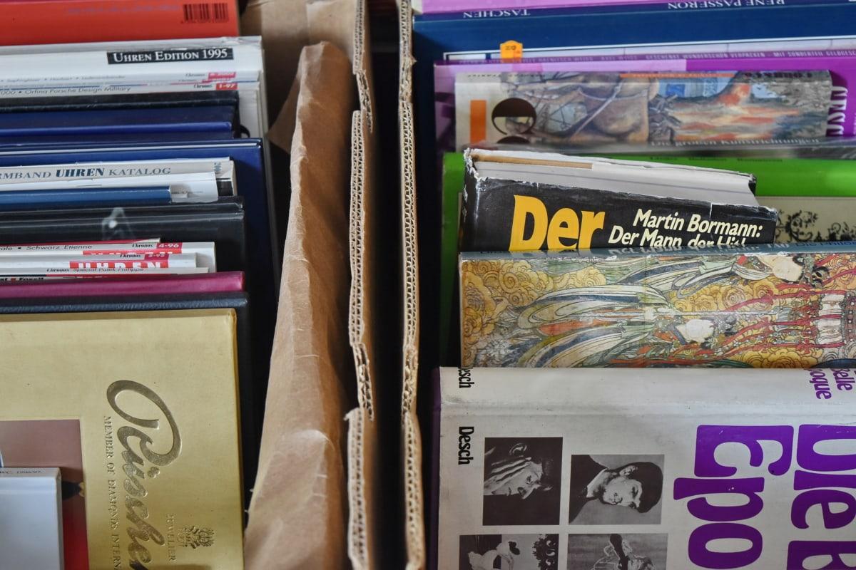 sách, hộp, thùng carton, giấy, tạp chí, giáo dục, nghiên cứu, văn học, cạnh tranh, cuốn sách