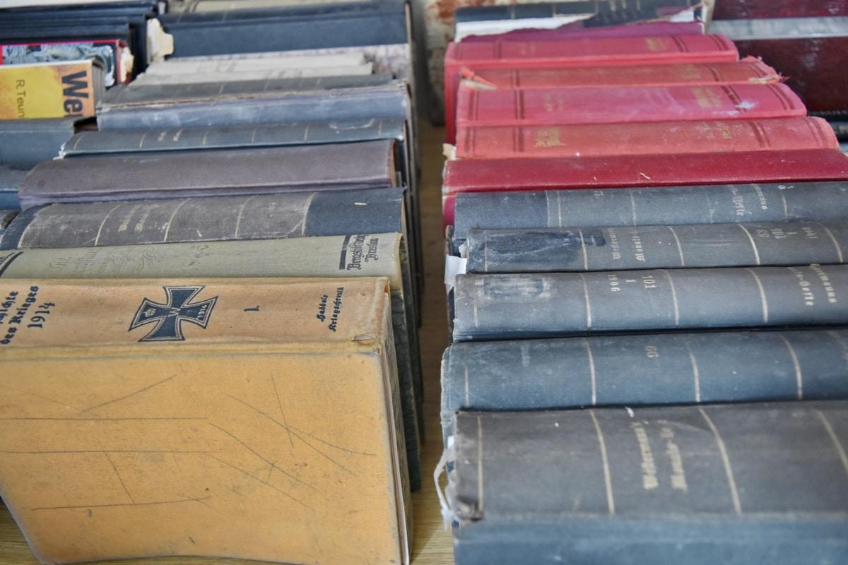 bookshelf, bookshop, nostalgia, old, outdoors, architecture, antique, dirty, education, school