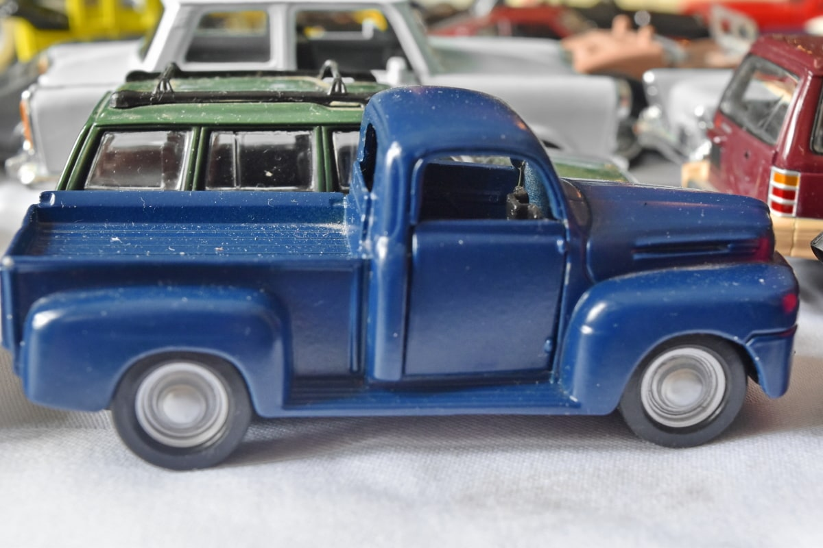 Metall, Spielzeug, Abholung, Fahrzeug, Automotive, Auto, LKW, Transport, Haube, Limousine