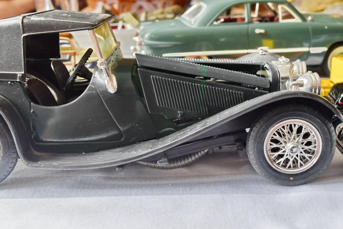 Samochody, starym stylu, zabawki, pojazd, transport, samochodowe, Classic, nostalgia, chrom, Kabriolet