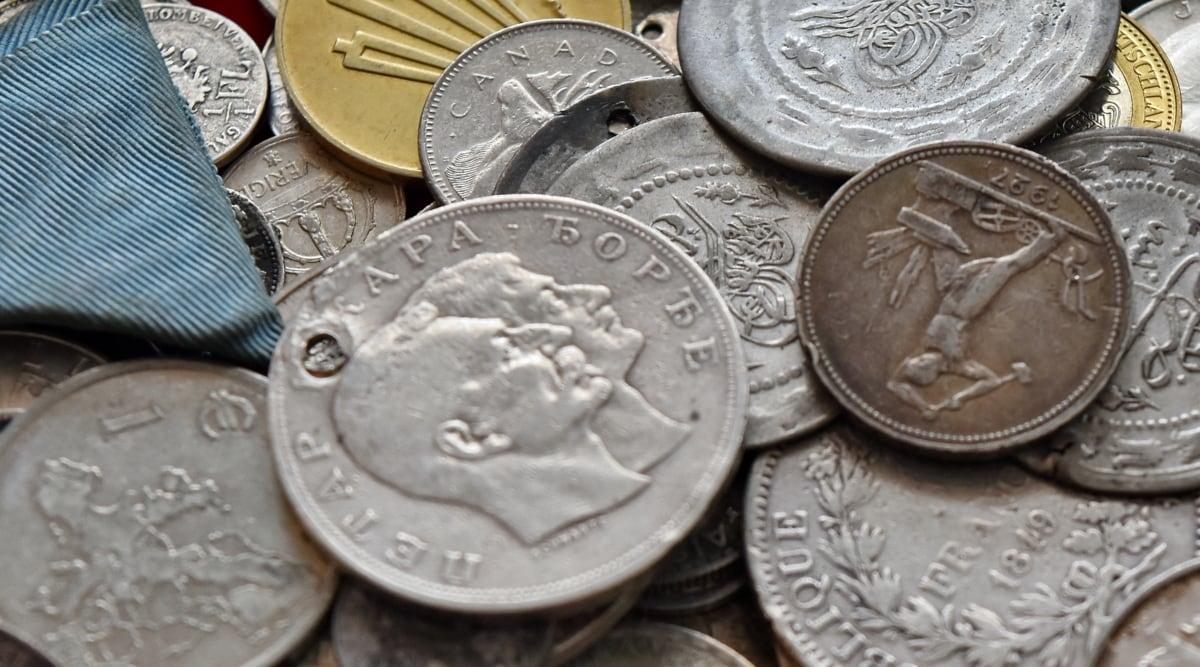 สมัยโบราณ, รายละเอียด, ธุรกิจ, เงินสด, เหรียญ, เหรียญ, สกุลเงิน, ดอลลาร์, เศรษฐกิจ, สกุลเงินยูโร