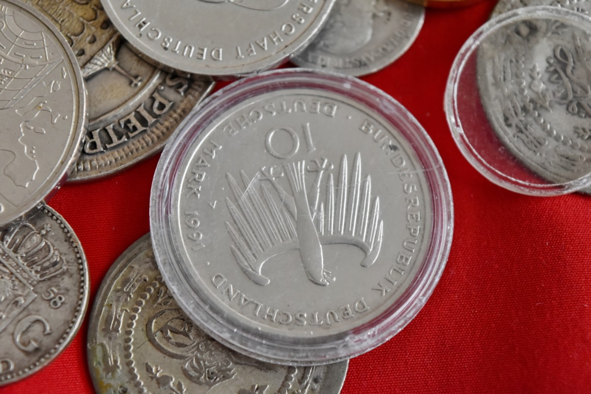 thời cổ đại, Ngân hàng, khối, kinh doanh, đồng xu, tiền xu, đồng, thu, đô-la, nền kinh tế