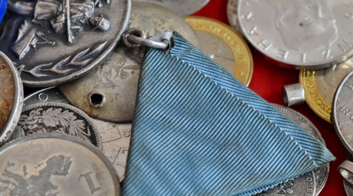 Antik, madeni para, paralar, Konteyner, para birimi, ayrıntı, Ayrıntılar, raptiye, metal, para