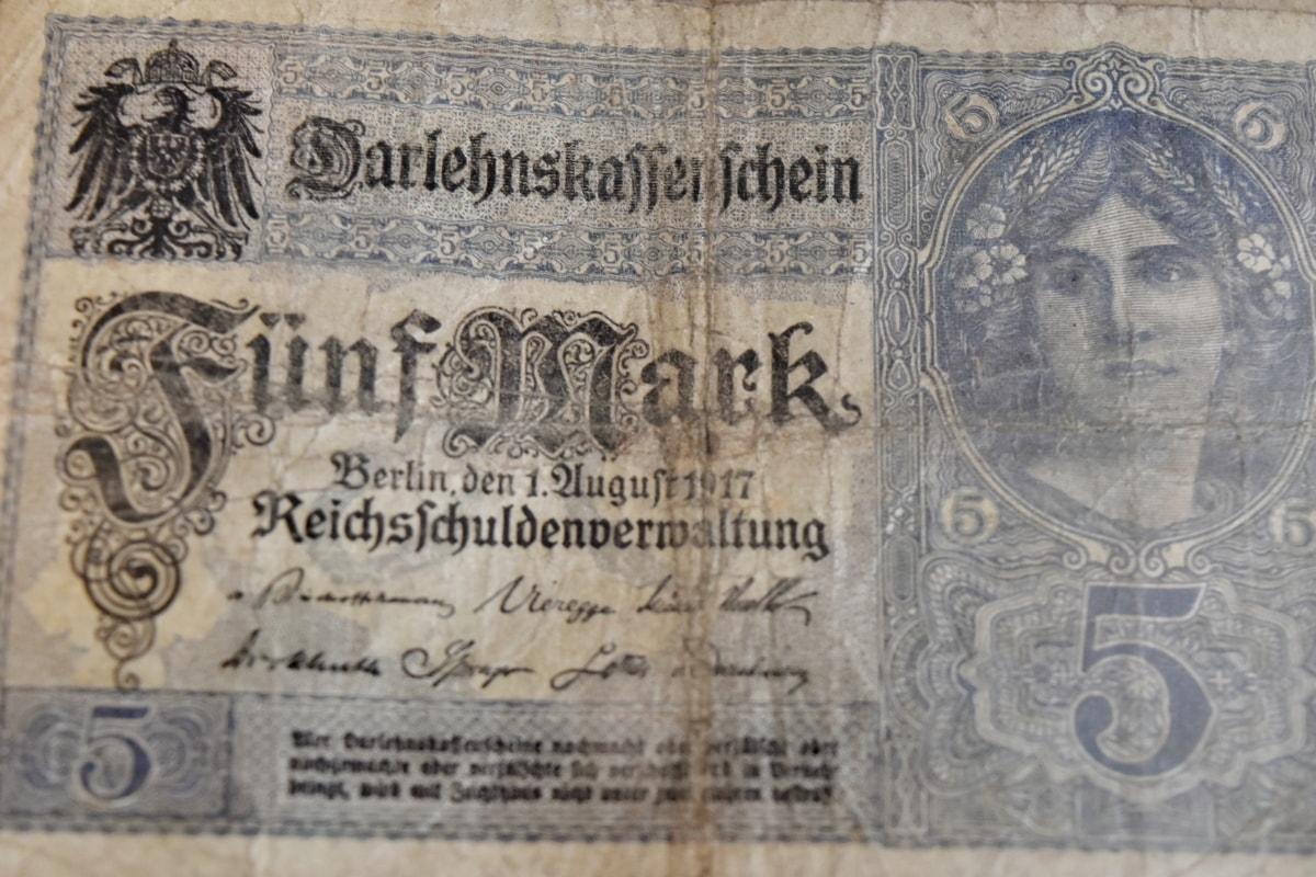 Seddelen, Tyskland, gammel stil, papir, tekst, gamle, arkitektur, kunst, antikk, skrive ut