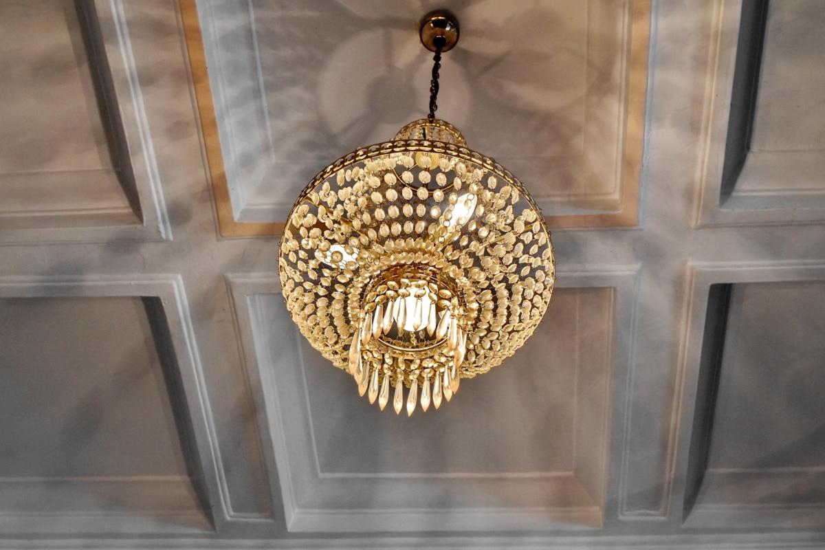 εσωτερική διακόσμηση, πολυέλαιος, πολυτέλεια, σε εσωτερικούς χώρους, αρχιτεκτονική, ανώτατο όριο, τέχνη, διακόσμηση, λάμπει, κλασικό