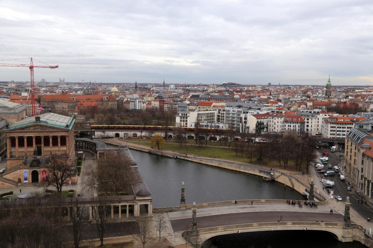 Most, štruktúra, rieka, voda, mesto, Architektúra, nábreží, Panoráma mesta, kostol, Urban