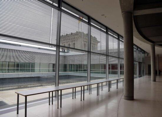 vide, couloir, architecture, Ville, corridor, Création de, fenêtre, à l'intérieur, moderne, structure