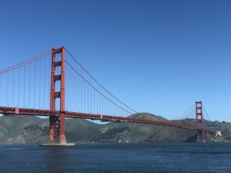tourist attraction, bridge, suspension bridge, water, pier, structure, landmark, architecture, sea, river