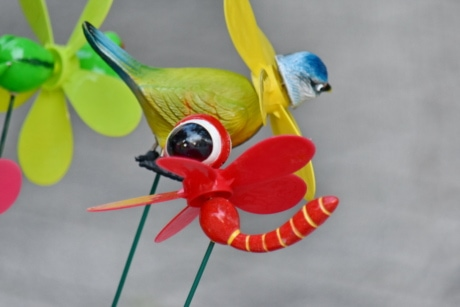 bird, dragonfly, plastic, toys, toyshop, machine, tropical, bright, outdoors, animal