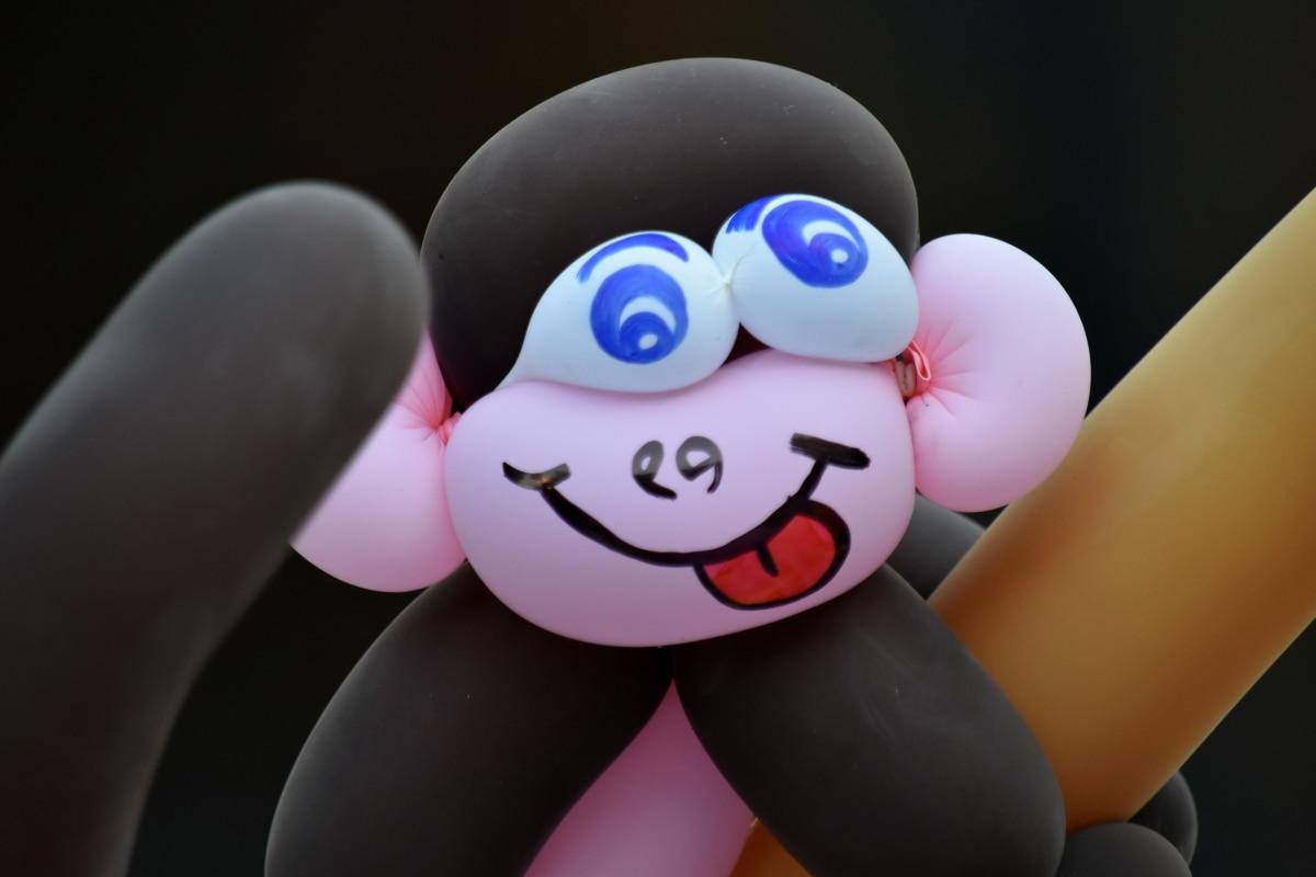 khí cầu, Trang trí, Xem chi tiết, làm bằng tay, con khỉ, đồ chơi, nghệ thuật, trẻ em, vui vẻ, chân dung