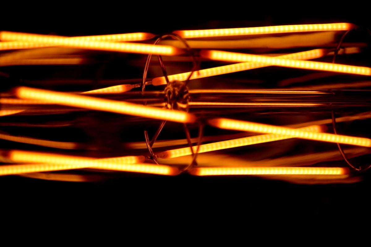 detail, light bulb, abstract, wire, digital, light, blur, dark, smoke, art