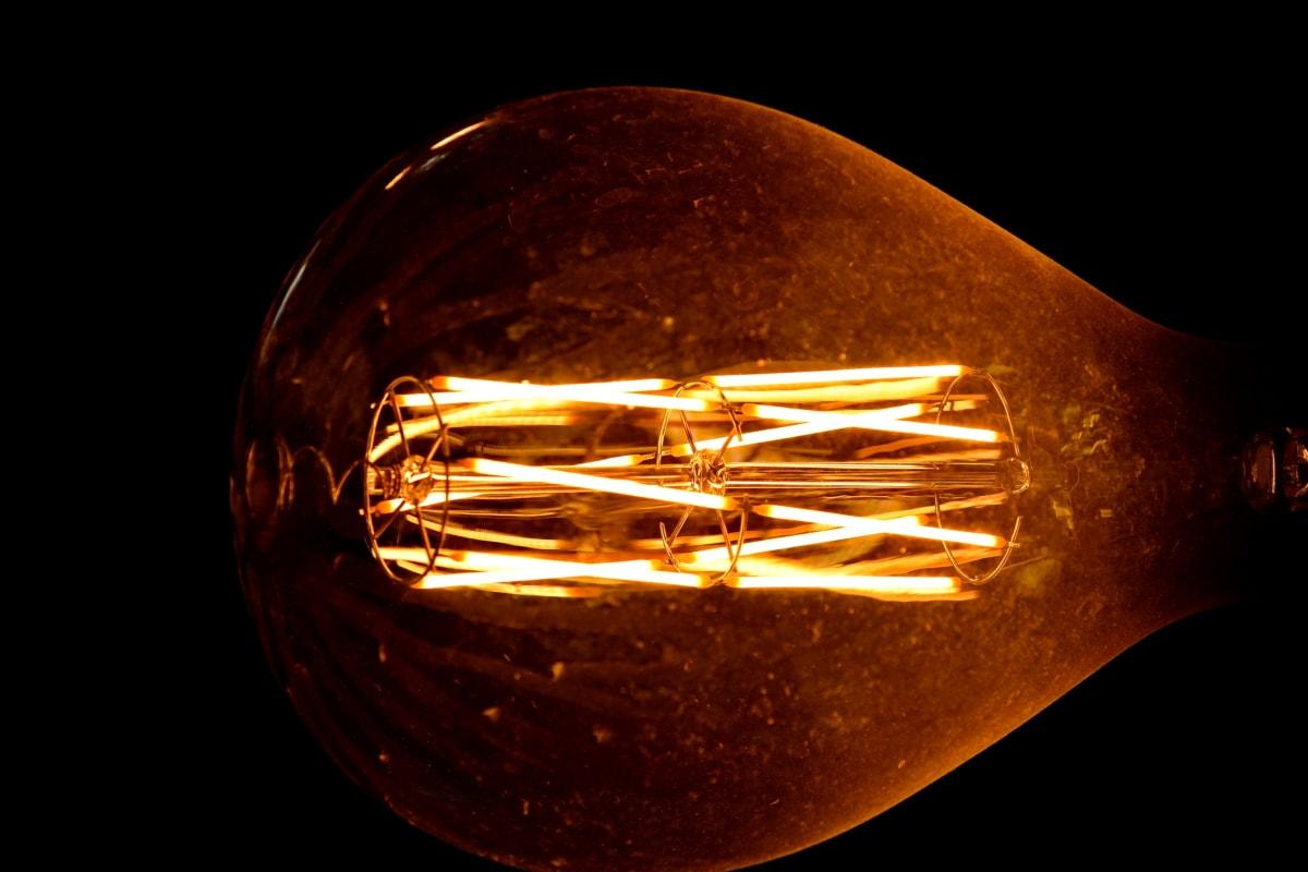 発光, 暗い, 電気, 明るい, 光, ホット, スティル ・ ライフ, 技術, エネルギー, シャイニング ・