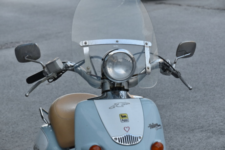 Italy, moped, nostalgia, steering wheel, urban area, chrome, cloud, conveyance, covering, detail