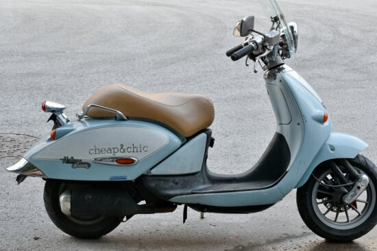 moped, nostalgia, side view, chrome, conveyance, detail, details, drive, engine, headlight