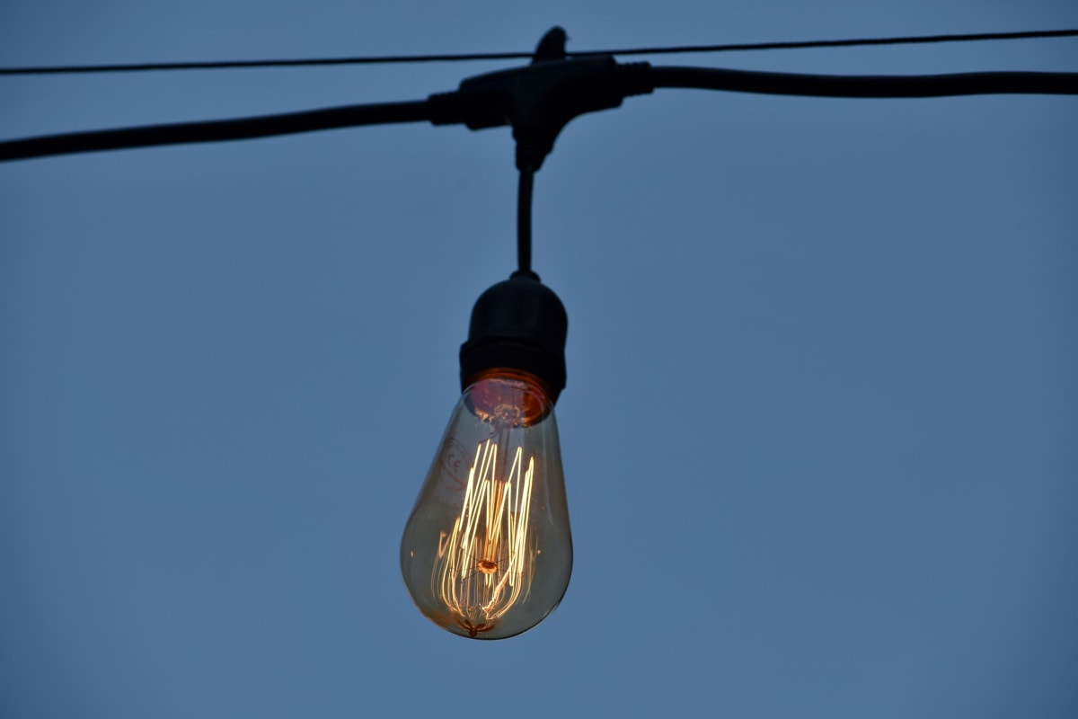 light bulb, voltage, cable, detail, details, electric, electricity, glass, hanging, high