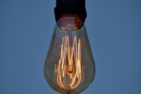 light bulb, bright, cloud, detail, details, electricity, glass, illuminated, illumination, lamp