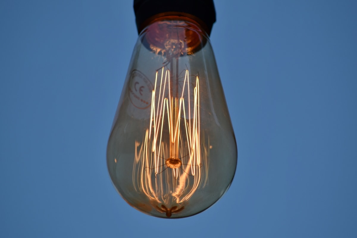 electricity, glass, light bulb, shining, voltage, bright, cloud, detail, details, illuminated