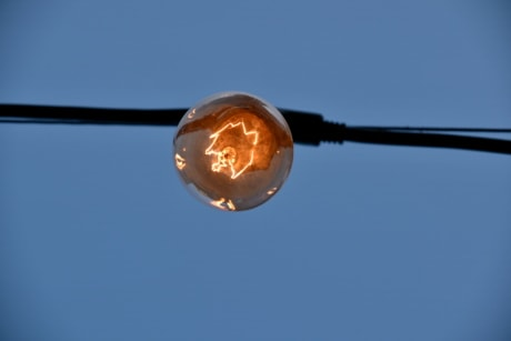 glass, light bulb, voltage, wire, daylight, detail, details, electricity, energy, illuminated