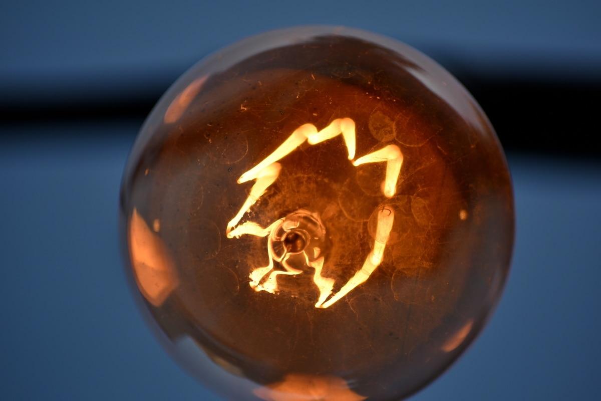 detail, electricity, light, light bulb, voltage, dark, shining, bright, illuminated, danger