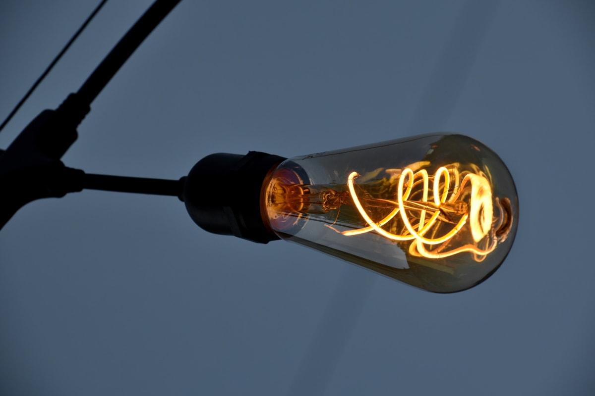 кабел, електрическа крушка, напрежение, светъл, тъмно, детайли, детайли, устройство, електричество, енергия