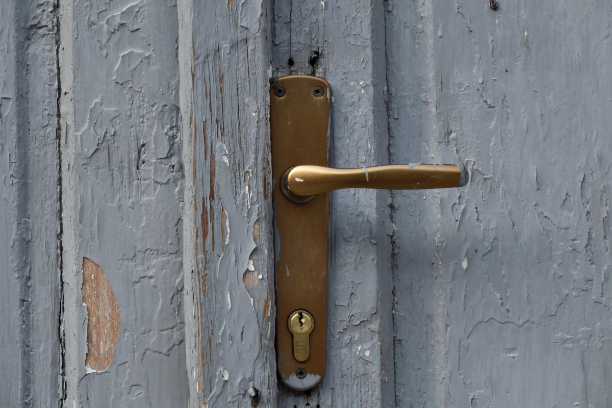 lock, latch, fastener, door, old, wood, device, wall, handle, dirty