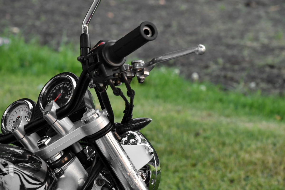게이지, 오토바이, 속도계, 스티어링 휠, 크롬, 클래식, 세부 사항, 상세 정보, 장치, 장비