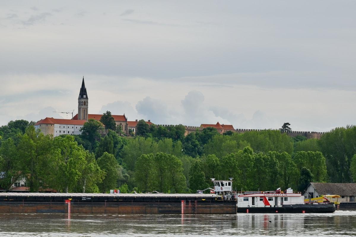 dvorac, Rimokataolička crkva Ivana Kapistrana, Ilok, Hrvatska, voda, grad, arhitektura, rijeka, brod