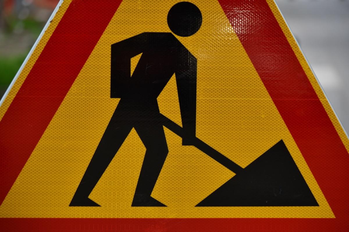 kontrola prometa, zastoj prometa, promet, sigurnost, Oprez, opasnost, Upozorenje, trokut, pozornost, ceste