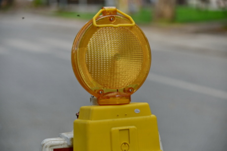 road, road construction, roadway, street, traffic control, traffic light, alarm, safety, outdoors, traffic