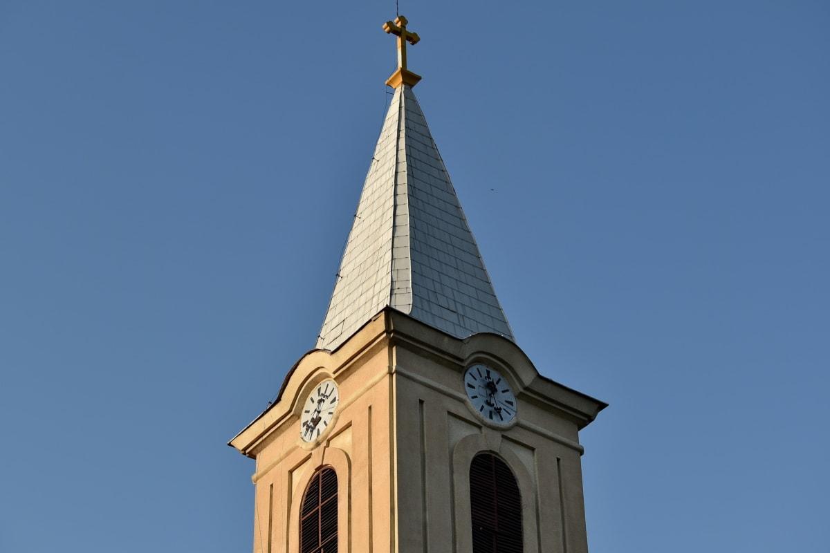 katolicki, chrześcijaństwo, wieża kościoła, styl architektoniczny, architektura, sztuka, błękitne niebo, budynek, Katedra, chrześcijański