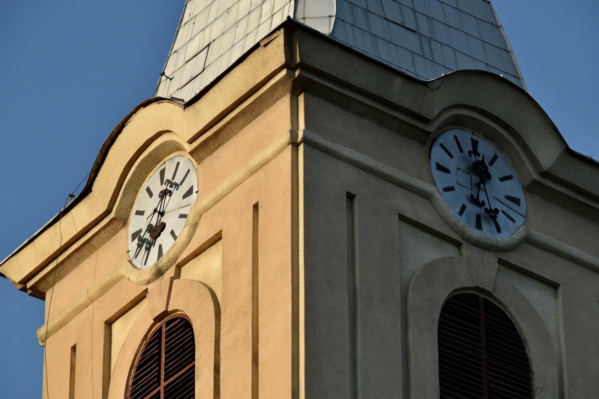 gamle, arkitektoniske stil, arkitektur, bygge, katedralen, kristne, kirke, byen, klassisk, klokke