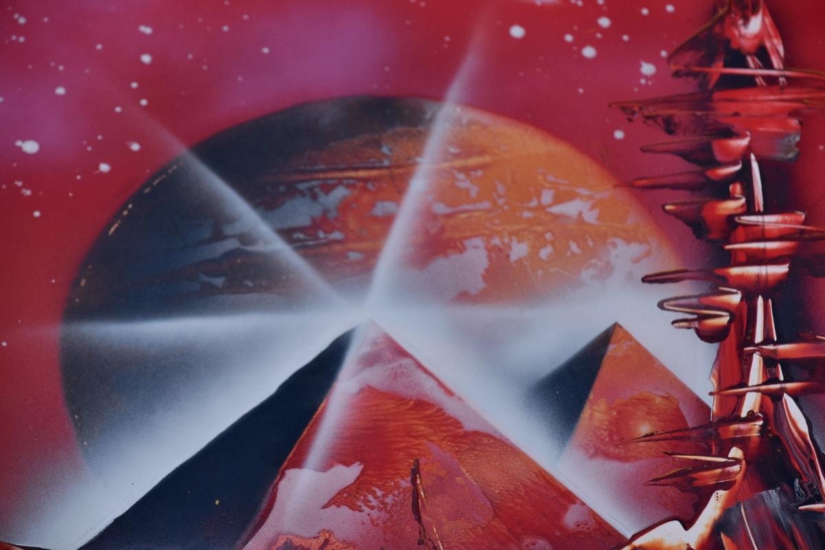 จินตนาการ, กาแล็คซี่, สีแดง, ดวงจันทร์, วิทยาศาสตร์, สดใส, ศิลปะ, ความคิดสร้างสรรค์, ซัน, สำรวจ