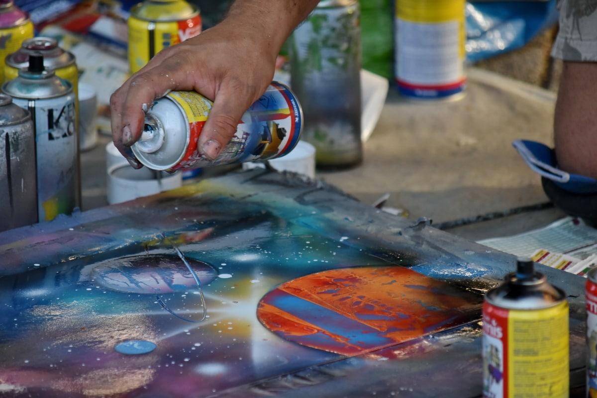 mano, fatto a mano, vernice, pittore, creatività, pittura, Graffiti, settore, mestiere, abilità