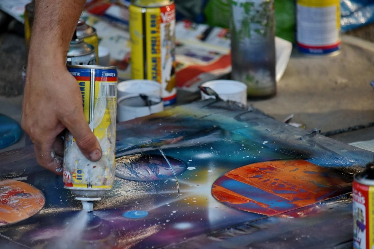 arte, tinta, pintura, rua, criatividade, grafite, pessoas, artesanato, habilidade, indústria