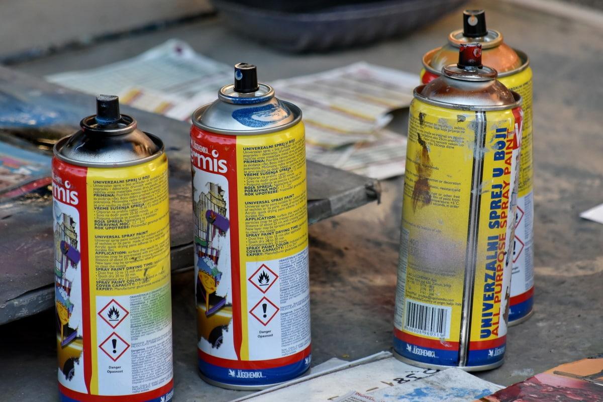 kolorowe, kolory, graffiti, Farba, malarstwo, przemysł, ulica, Kolor, chemiczne, kontener