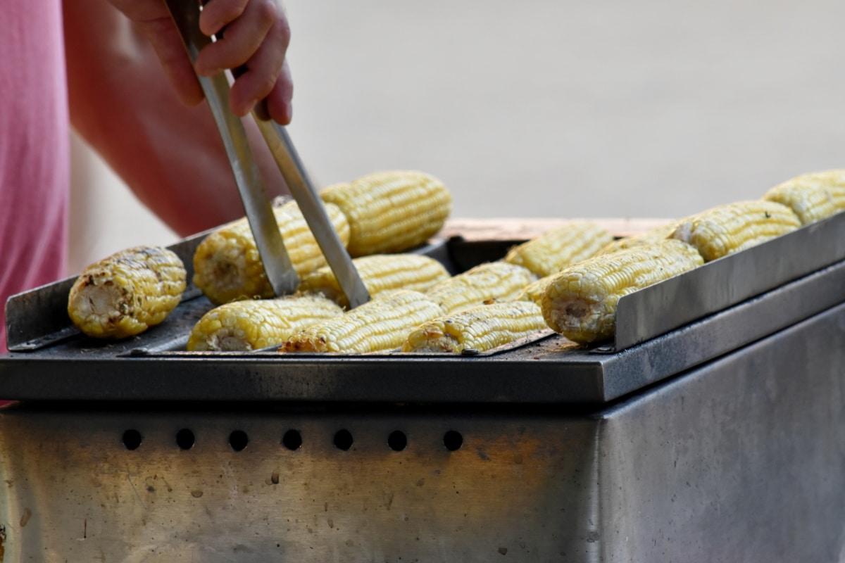 Кукурудза, їжа, Рука, ручної роботи, їжі, приготування їжі, Кухонні приналежності, Натюрморт, рослинні, Солодкий