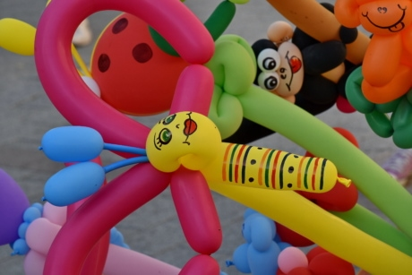 balloon, colourful, funny, handmade, fun, colorful, plastic, toy, playground, art
