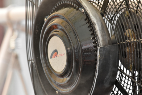 electric fan, electricity, turbine, steel, wheel, machine, old, antique, technology, iron