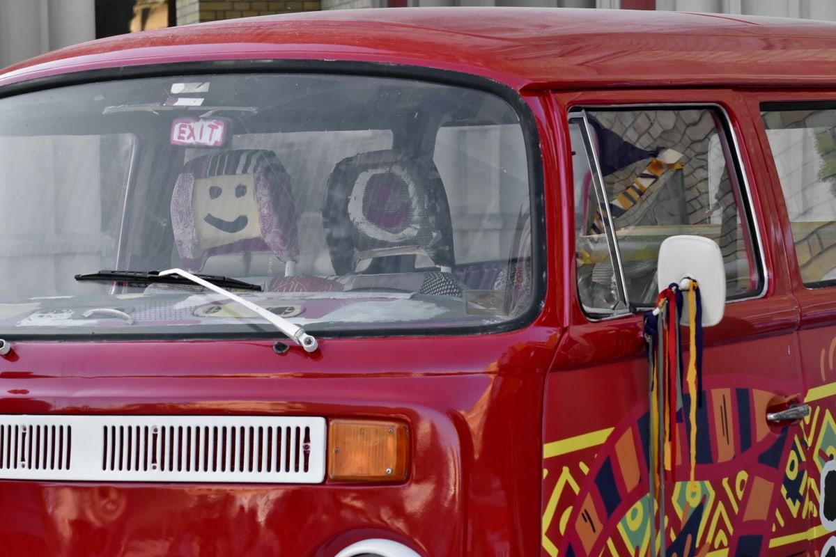 Кемпер, красочные, Ностальгия, лобовое стекло, Классик, автомобиль, Транспорт, транспортное средство, автомобиль, ретро