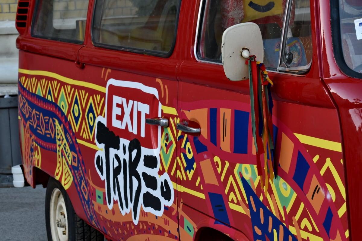 car, carnival, exit, festival, music, vehicle, street, classic, vintage, wheel