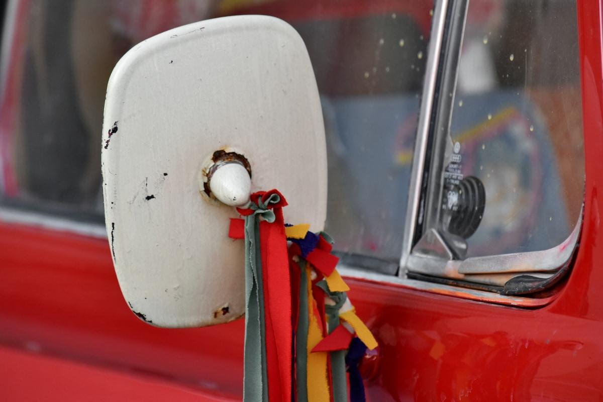 bil, karneval, festivaali, spejl, årgang, vindue, sikkerhed, køretøj, gade, nødsituation