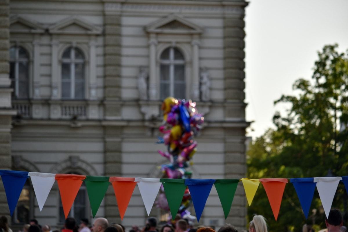 carnival, festival, people, parade, street, city, landscape, ceremony, celebration, pride