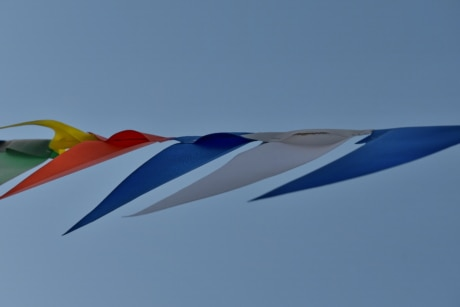 wind, flag, art, air, outdoors, blue sky, carnival, cloud, colour, colourful