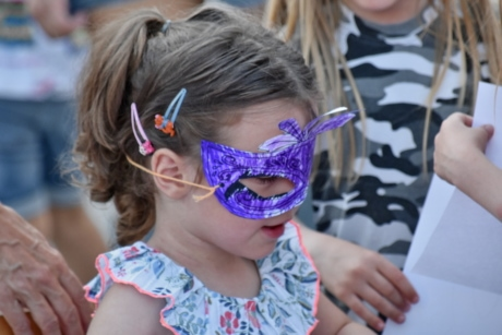 child, girl, handmade, mask, side view, face, goggles, fun, people, cute