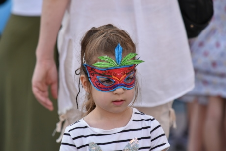 colorful, costume, face, mask, portrait, festival, child, people, parade, woman