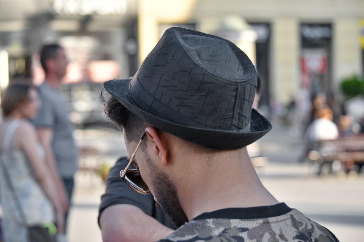 moda, occhiali da sole, Abbigliamento, cappello, Via, Città, persone, uomo, urbano, verticale