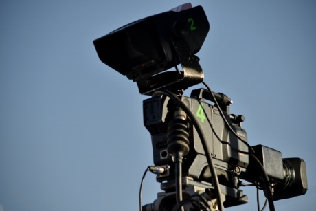 blue sky, camera, device, television news, equipment, apparatus, lens, semaphore, electronics, technology