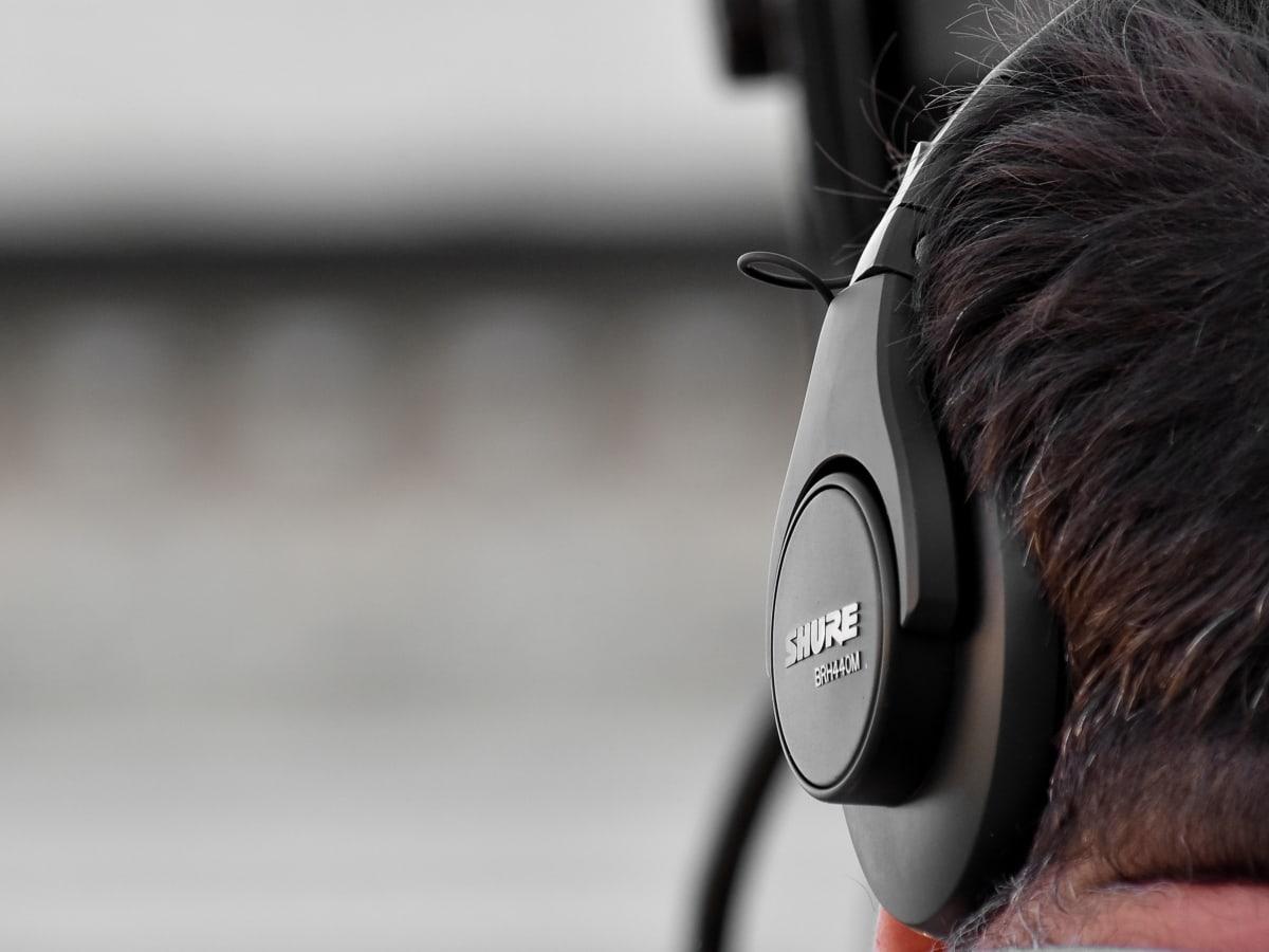 áudio, entretenimento, fones de ouvido, fone de ouvido, música, Vista lateral, cobrindo, tecnologia, pessoas, som